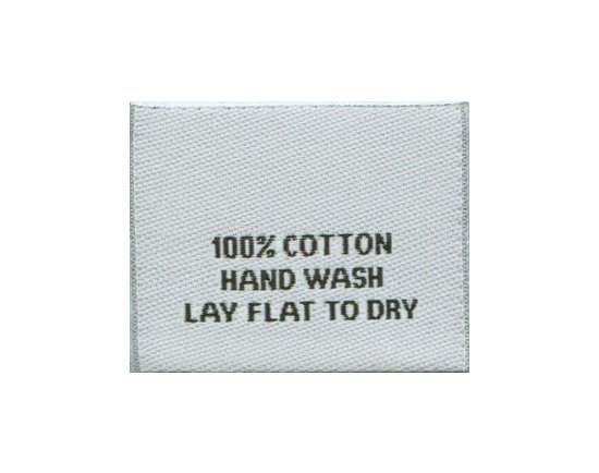 64240f5399f2 100% COTTON HAND WASH Clothing Tags